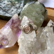 Rose Quartz Silver Wire Wrapped Nest Ring